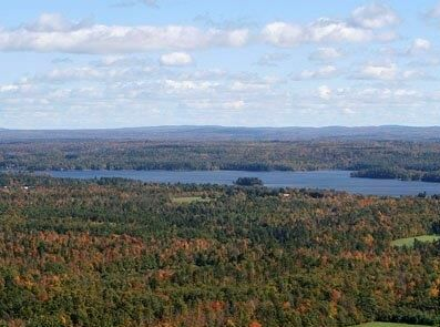 Aerial photo of Webber Pond courtesy of Fox Photo. (Vassalboro Maine)