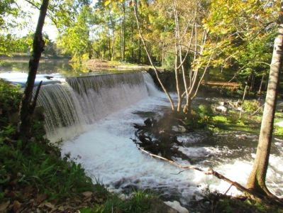 The falls at Ladd Dam.  Property owned by Ray Breton.  Photo by Mary Sabins.